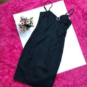 Betsey Johnson Black Half Bow Mini Dress